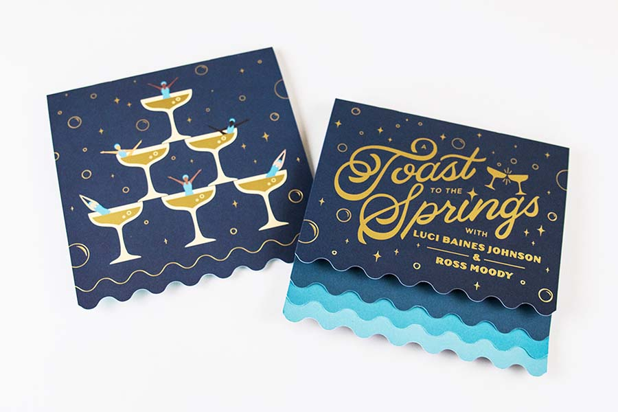 An invite to a fundraiser called Toast to the Springs.