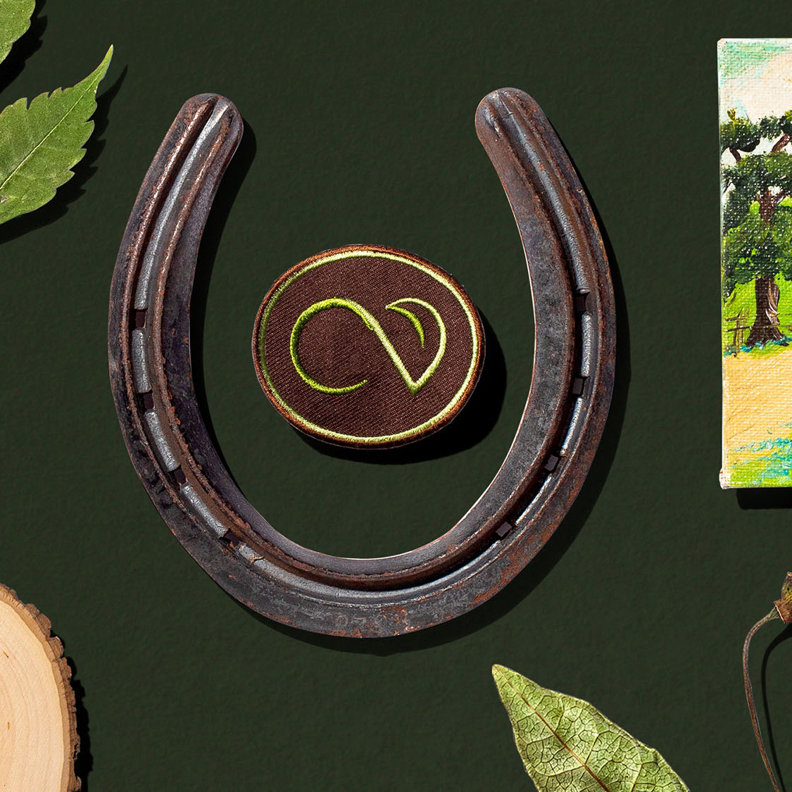 A horseshoe and a Crossvine patch.