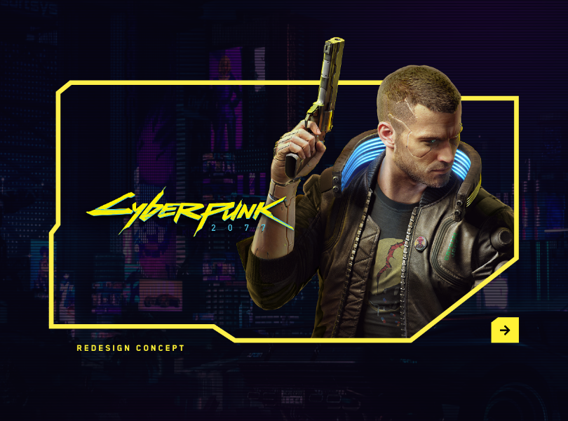 Cyberpunk Website Design