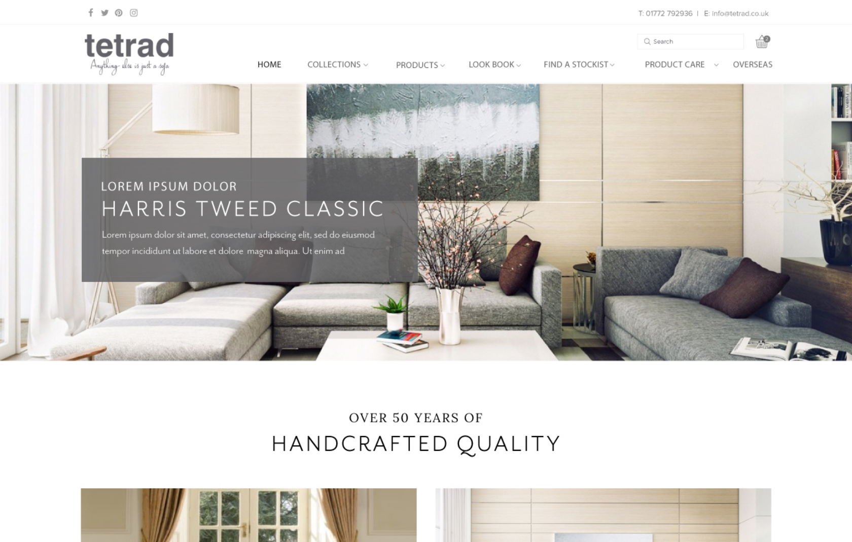Tetrad Furniture Web Design