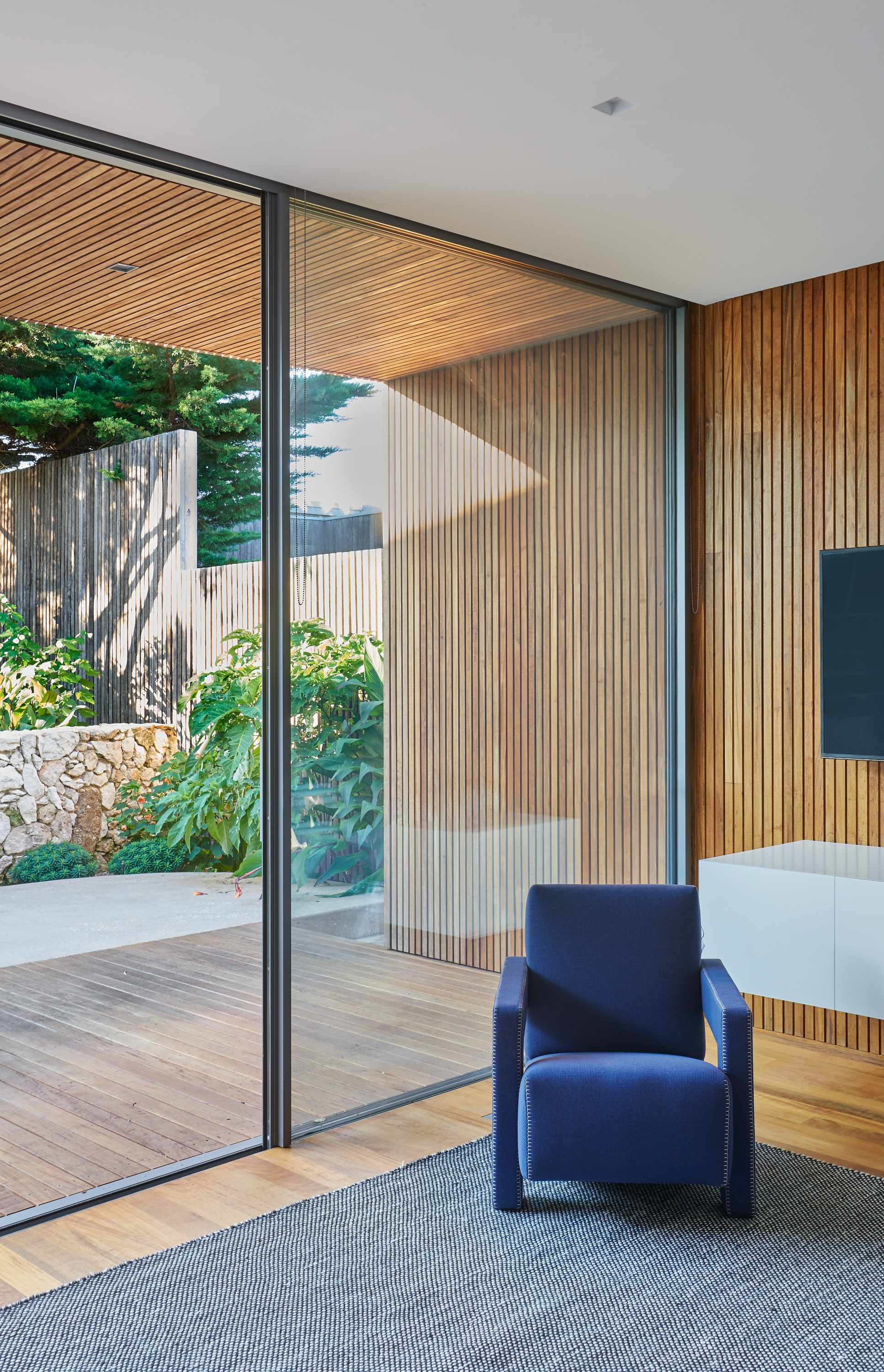 Portsea Pavillion, a residential project whose architecture and interiors are designed by Carr Design
