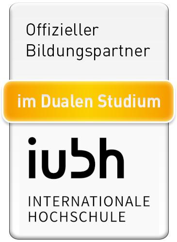 Das Siegel für offizielle Bildungspartner der iubh für das duale Studium.