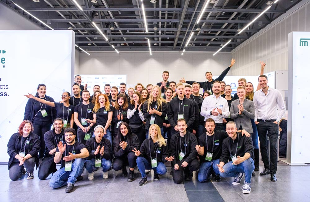 Ein Teamfoto der Fastlane Marketing GmbH, das auf This Is Marketing 2019 aufgenommen wurde.