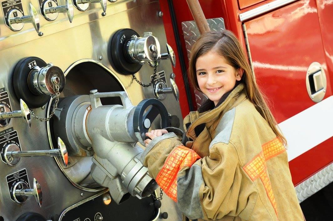 Girl firefighter.