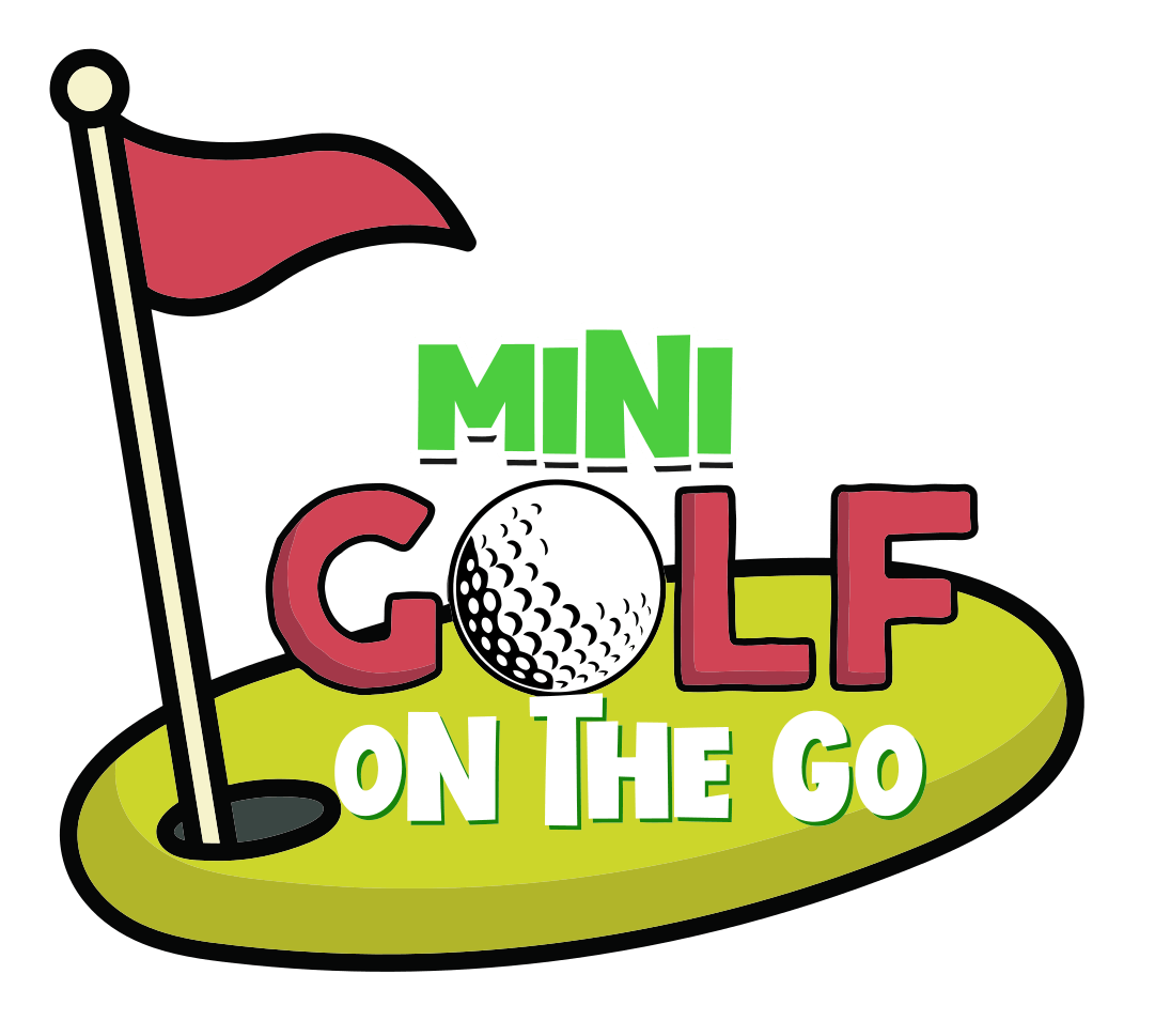 Mini golf on the go logo.