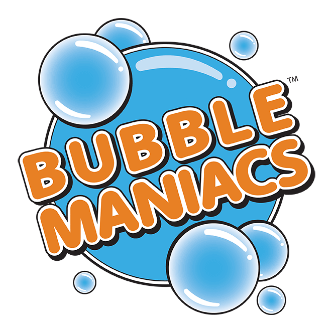 Bubblemaniacs logo.