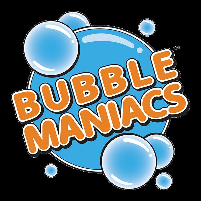 Bubblemaniacs logo.