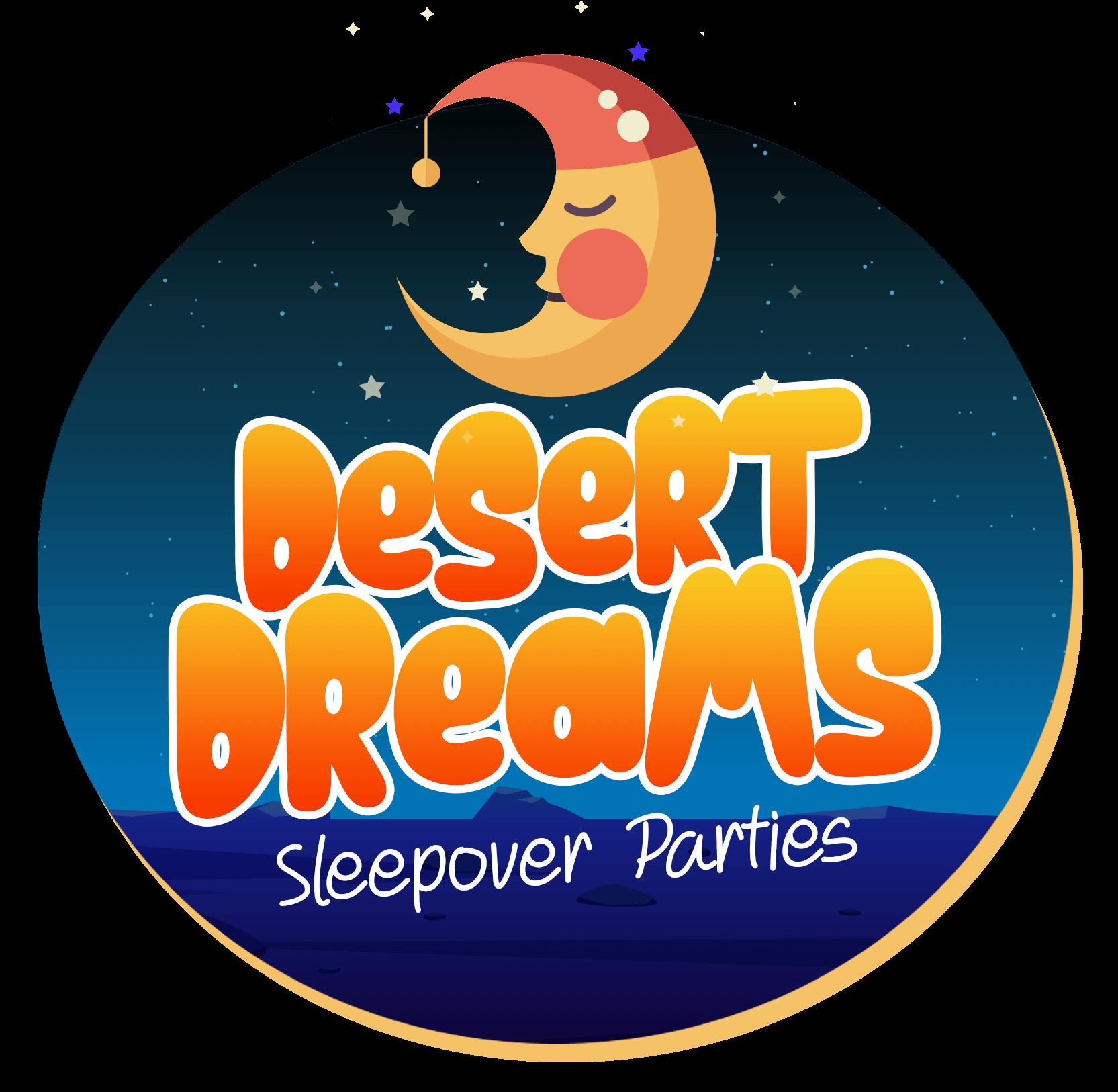 Desert Dreams Sleepover Parties Logo.