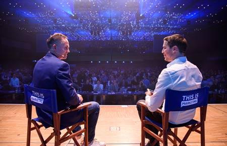 Leo Gärtner und Marcel Knopf auf der This Is Marketing Bühne 2019 im Interview
