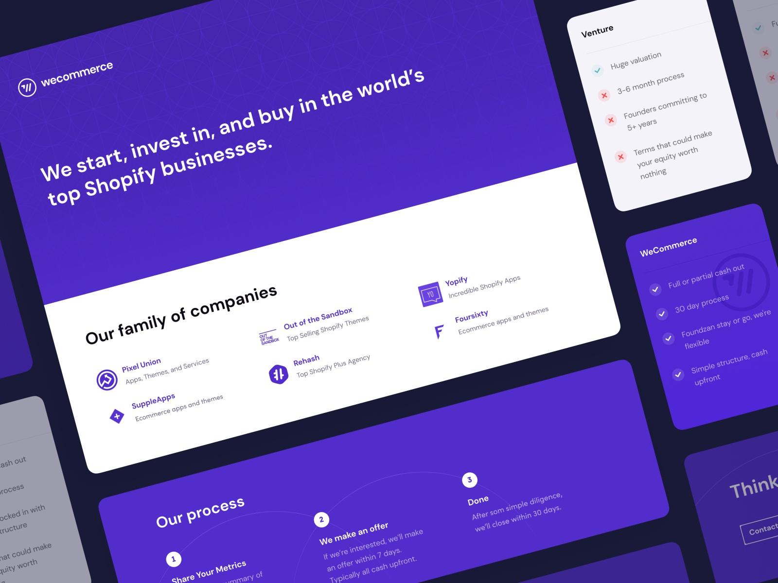 A screenshot of weCommerce platform