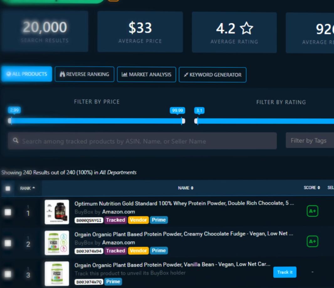 A screenshot of the DataHawk platform