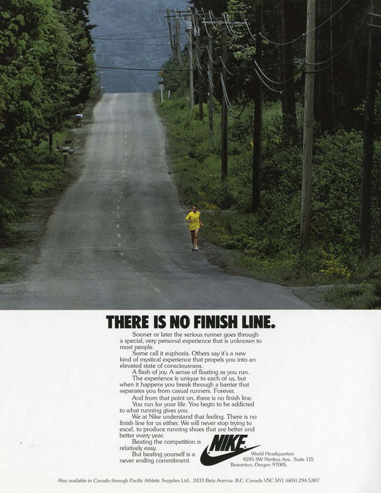 Nike | There is no finish line (1991)