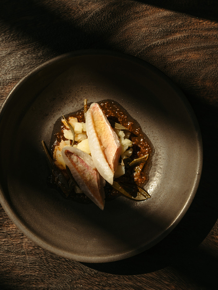 fine dining greek food sea food cycladic culture  dish