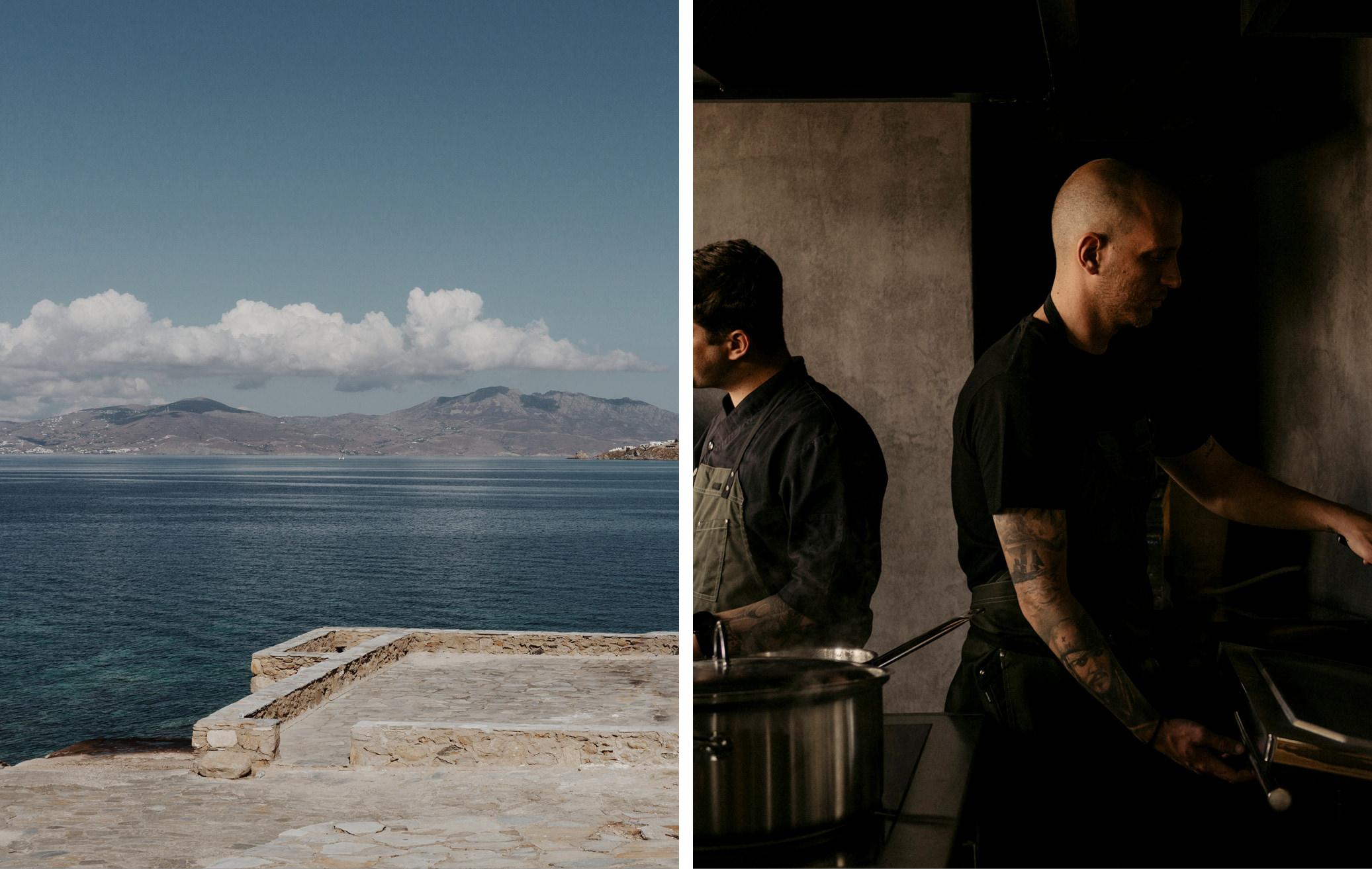 mykonos greece island cycladic culture restaurant greek food