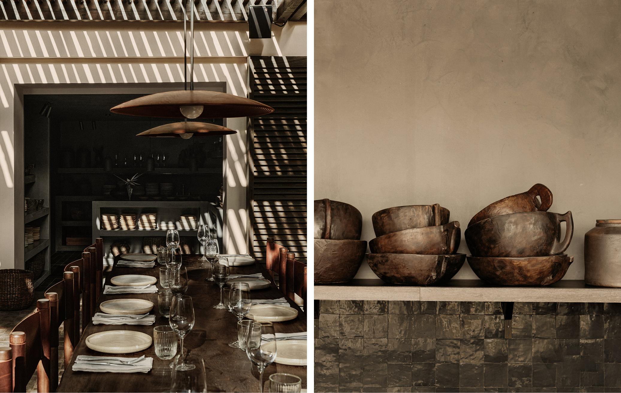 cactai plants interior design greek restaurant and bar mykonos island