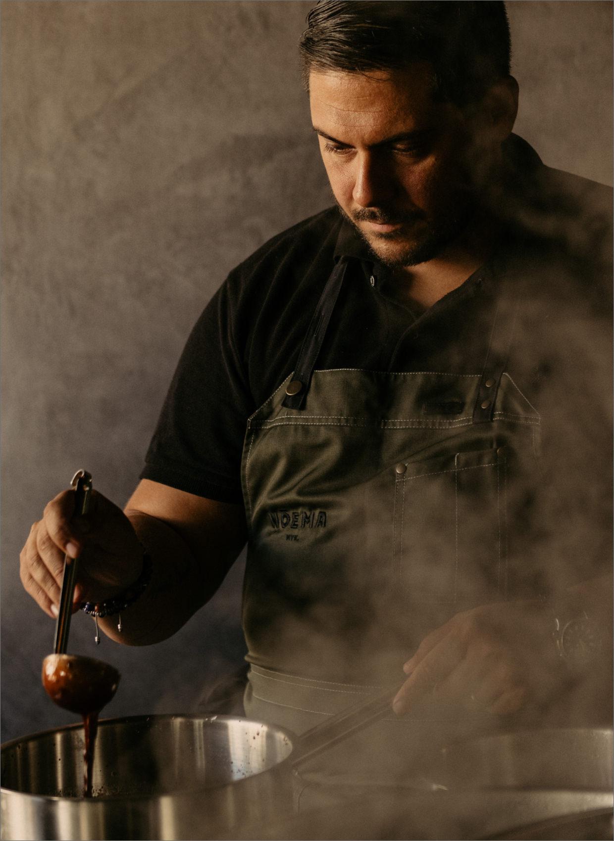 greek food michelin star chef mediterranean dish restaurant mykonos