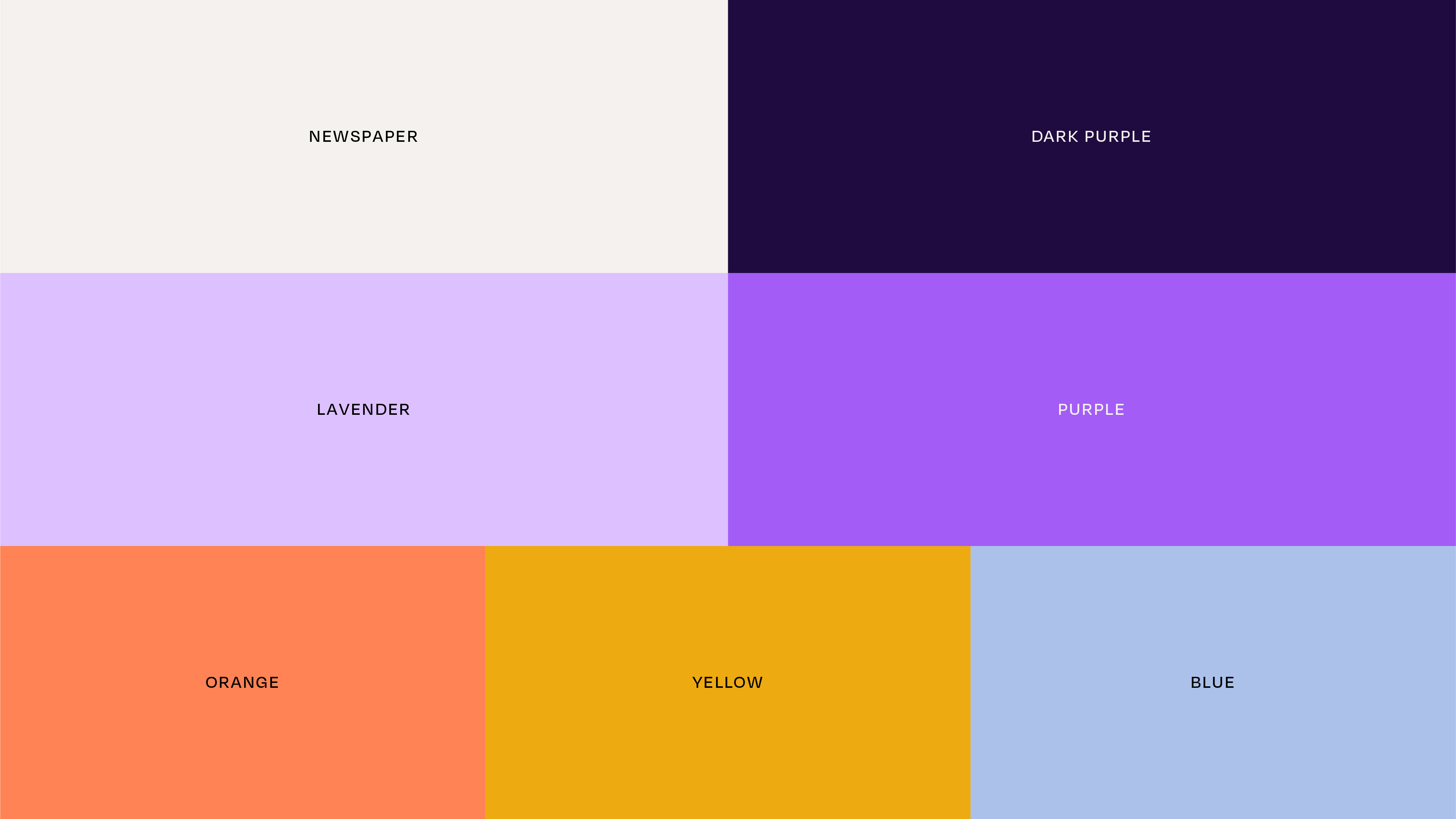 The Vor branding and web design colours image