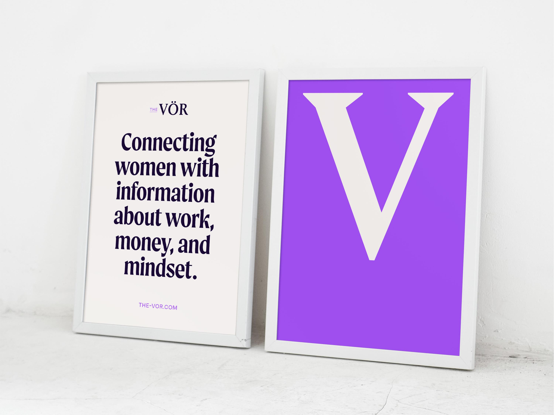The Vor branding and web design poster design