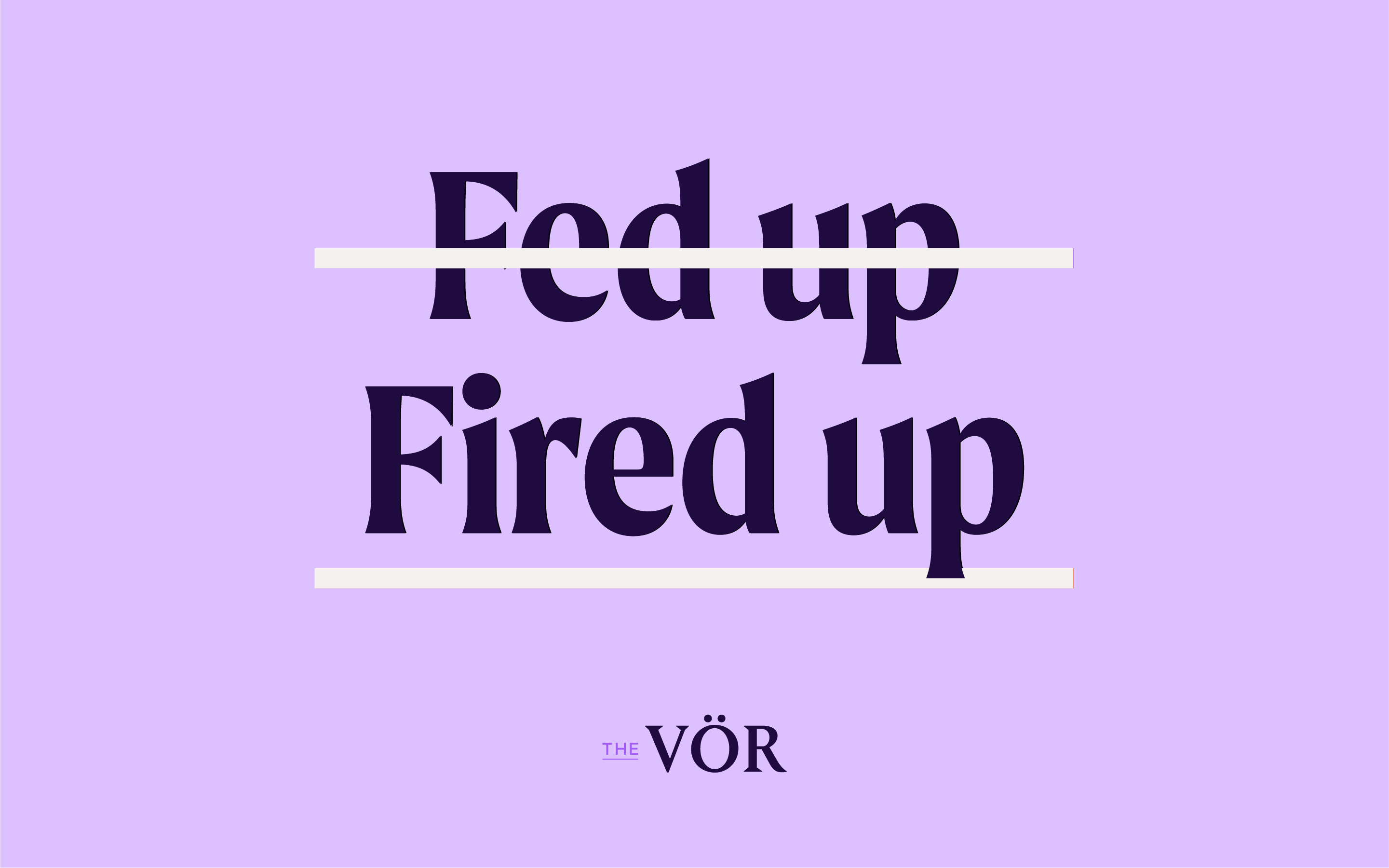 The Vor branding and web design typography