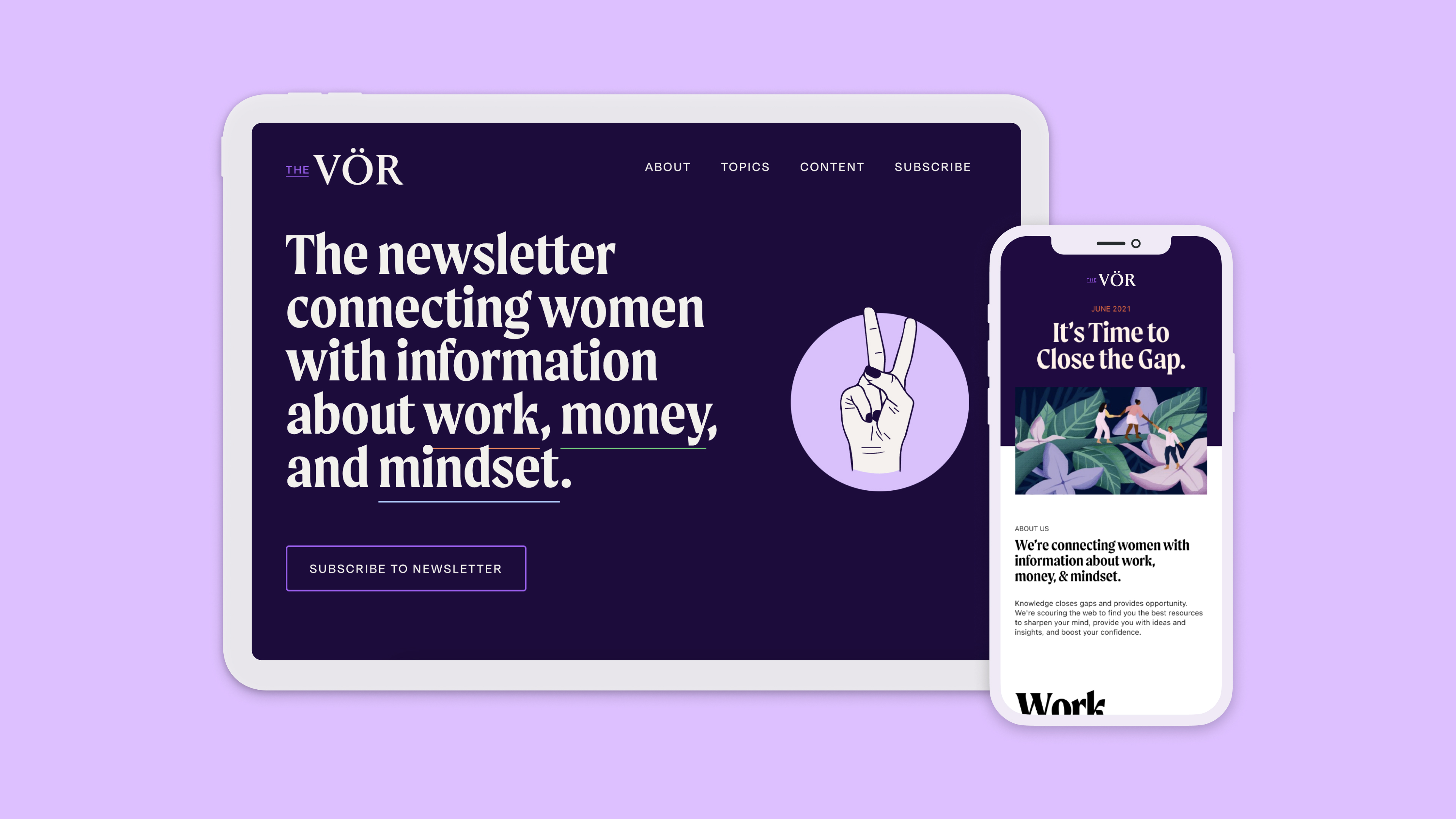 The Vor branding and web design cover Image