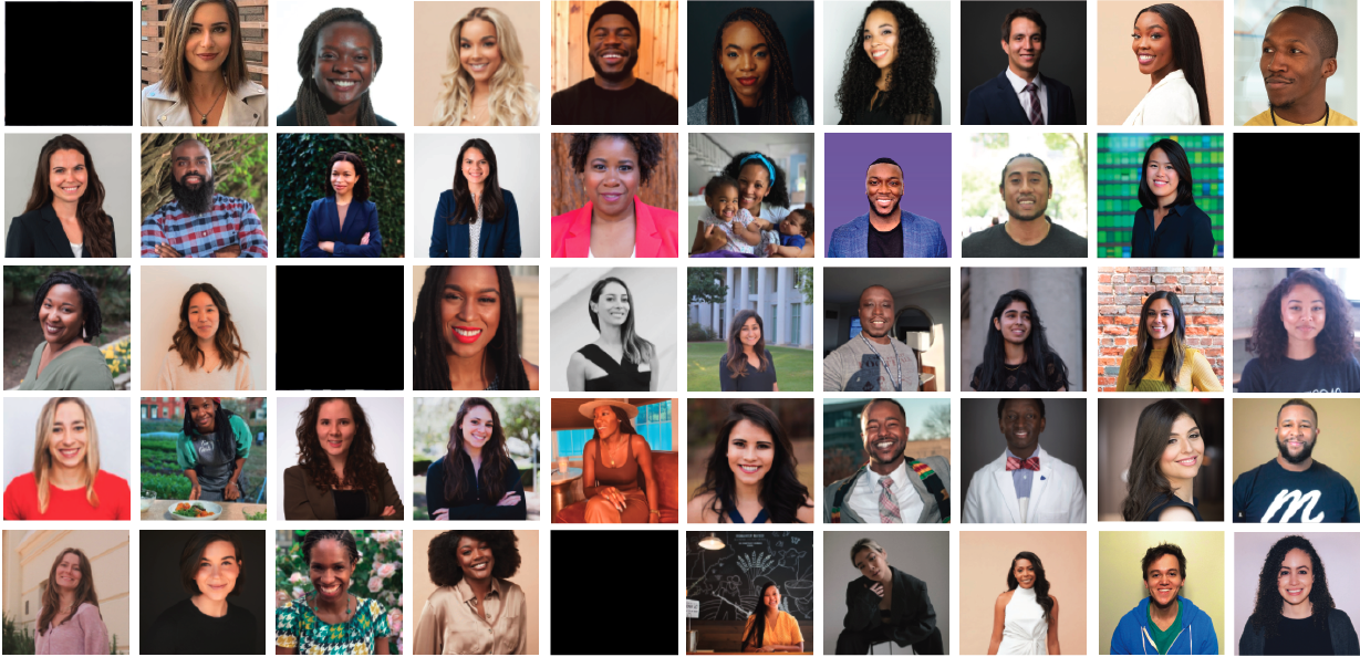 A grid with all of our fellows' headshots
