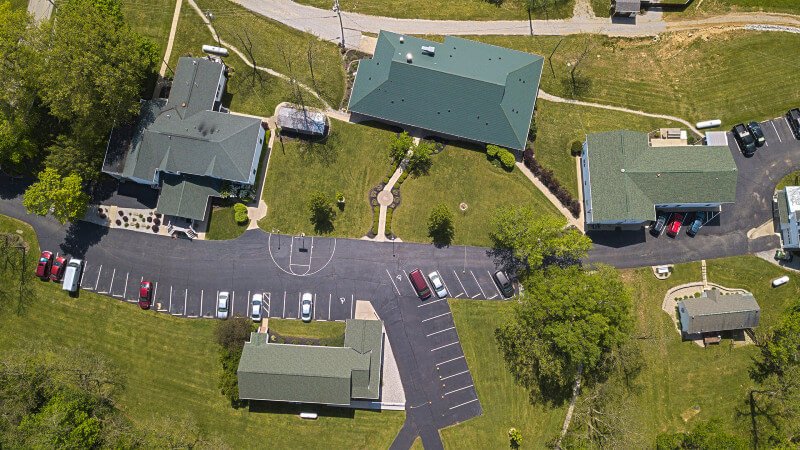 Drone shot of Pure Life Campus