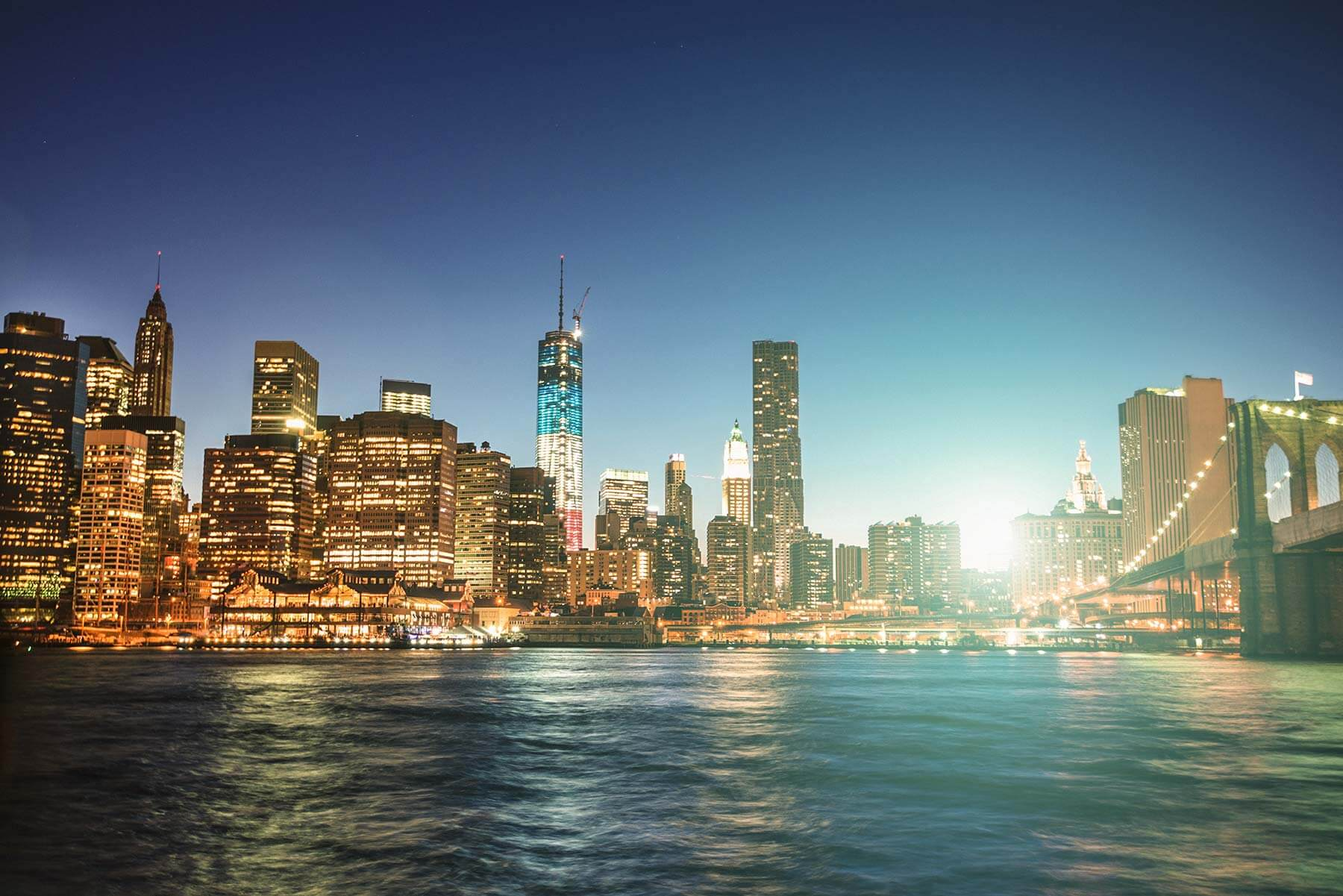 Skyline photo of Manhattan, NY