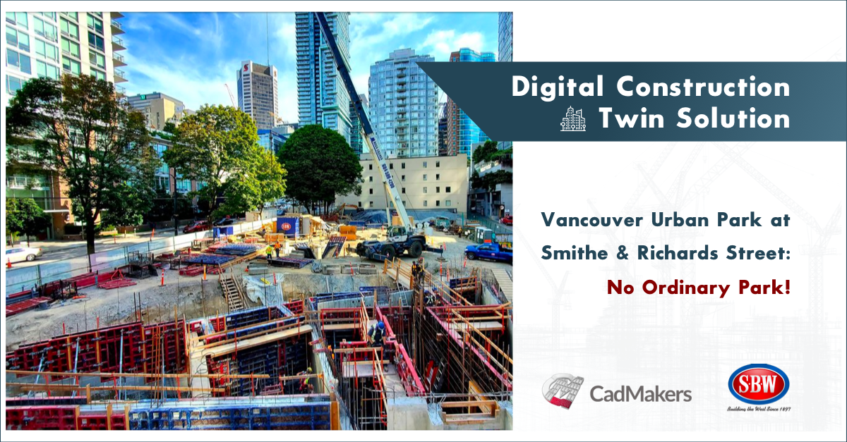 Smith Bros. & Wilson (BC) Ltd. (SBW) uses the Digital Construction Twin solution offered by CadMakers as a proactive tool to help identify and mitigate project risks while allowing for effective project team communication. CadMakers' tools allowed the proposal of solutions to complex geometries and construction sequencing, prior and even during construction. To date, the Digital Construction Twin solution has allowed SBW to perform a virtual construction study and get ahead of coordination complexities that would be found later on-site. The Digital Construction Twin solution also helped SBW run 4D sequencing simulations to optimize the scheduling on-site, integrate trade coordination and shop drawing reviews, and layout various building elements on-site directly from the model.