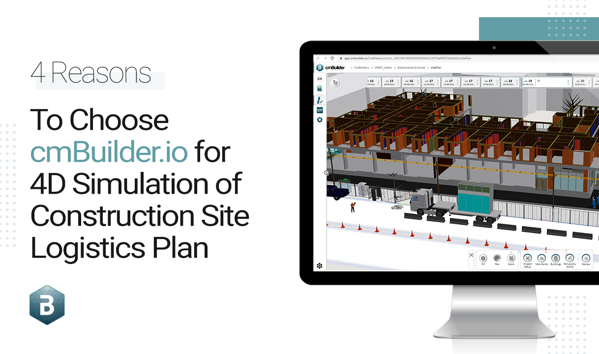 Simulate before you build. Create 4D simulations of your construction site logistics with ease with these powerful yet easy-to-use features on cmBuilder like 3D Markups, Presentation Mode, Construction Milestones and One-Click Share that will ensure enhanced client and project stakeholder communication. Let technology be the enabler and not a barrier - share data and not files.