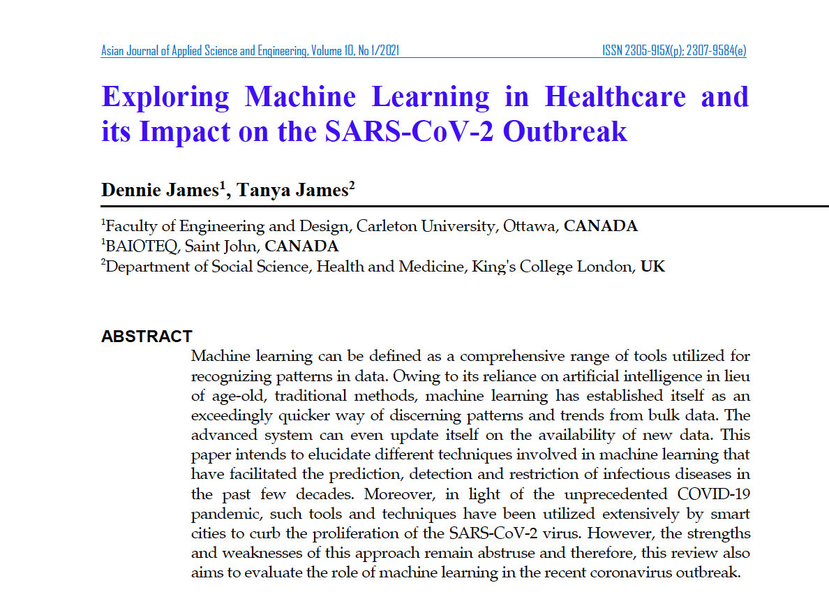 Exploring Machine Learning in Healthcare and its Impact on the SARS-CoV-2 Outbreak