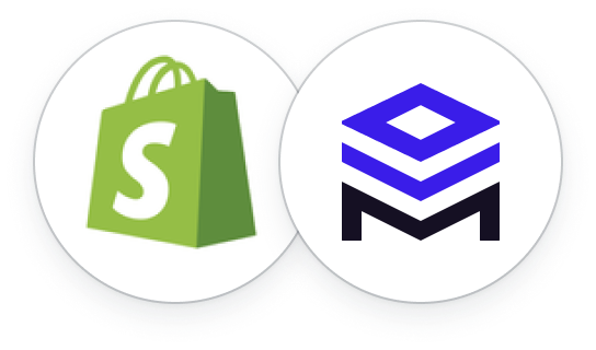 Merchstack and Shopify Logos