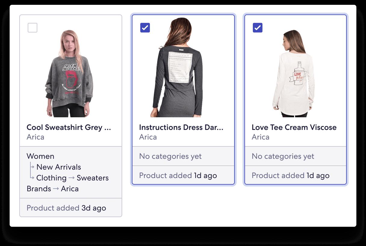 Screenshot of Product Inbox