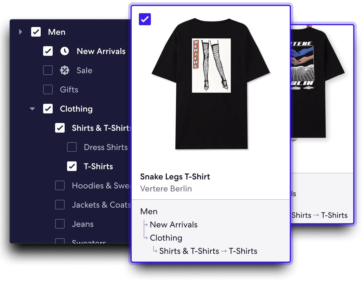Screenshot of Merchandising