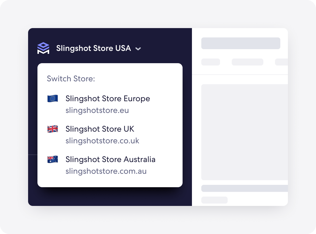 Graphic of Merchstack handling multiple Shopify locations
