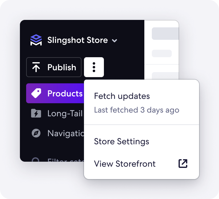 Graphic of Fetch Updates Feature