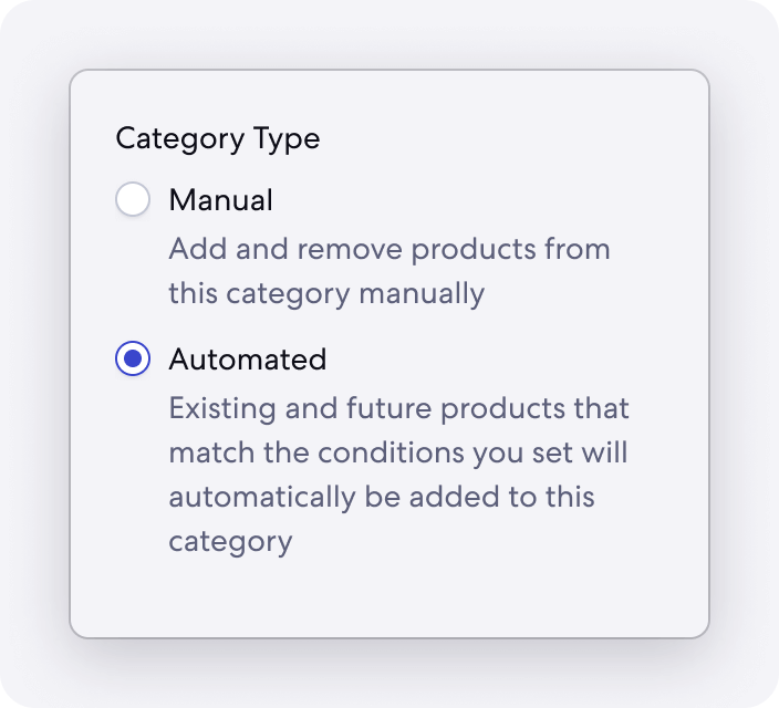 Graphic of Automated Category Feature