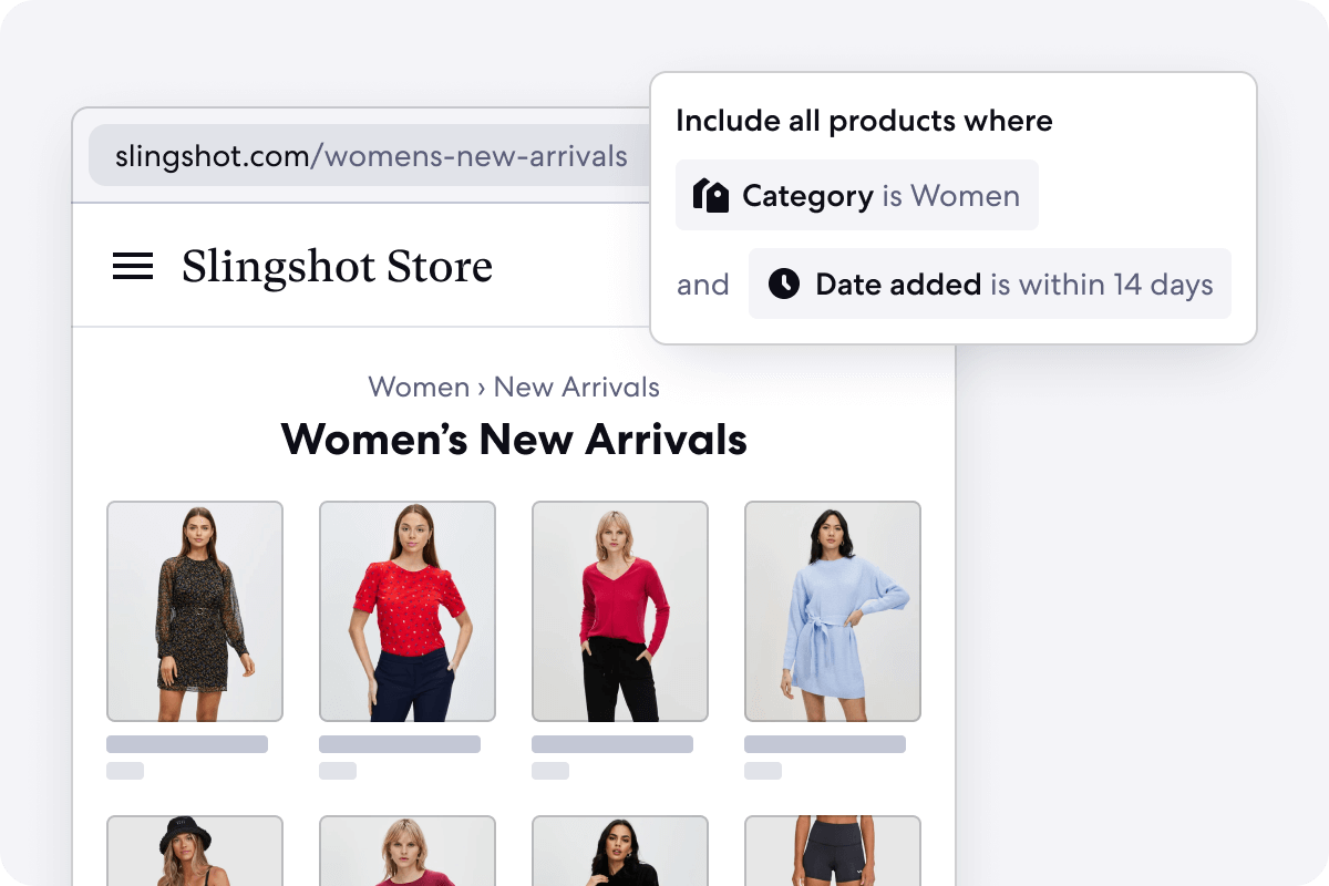 Graphic of Automated New Arrivals Category