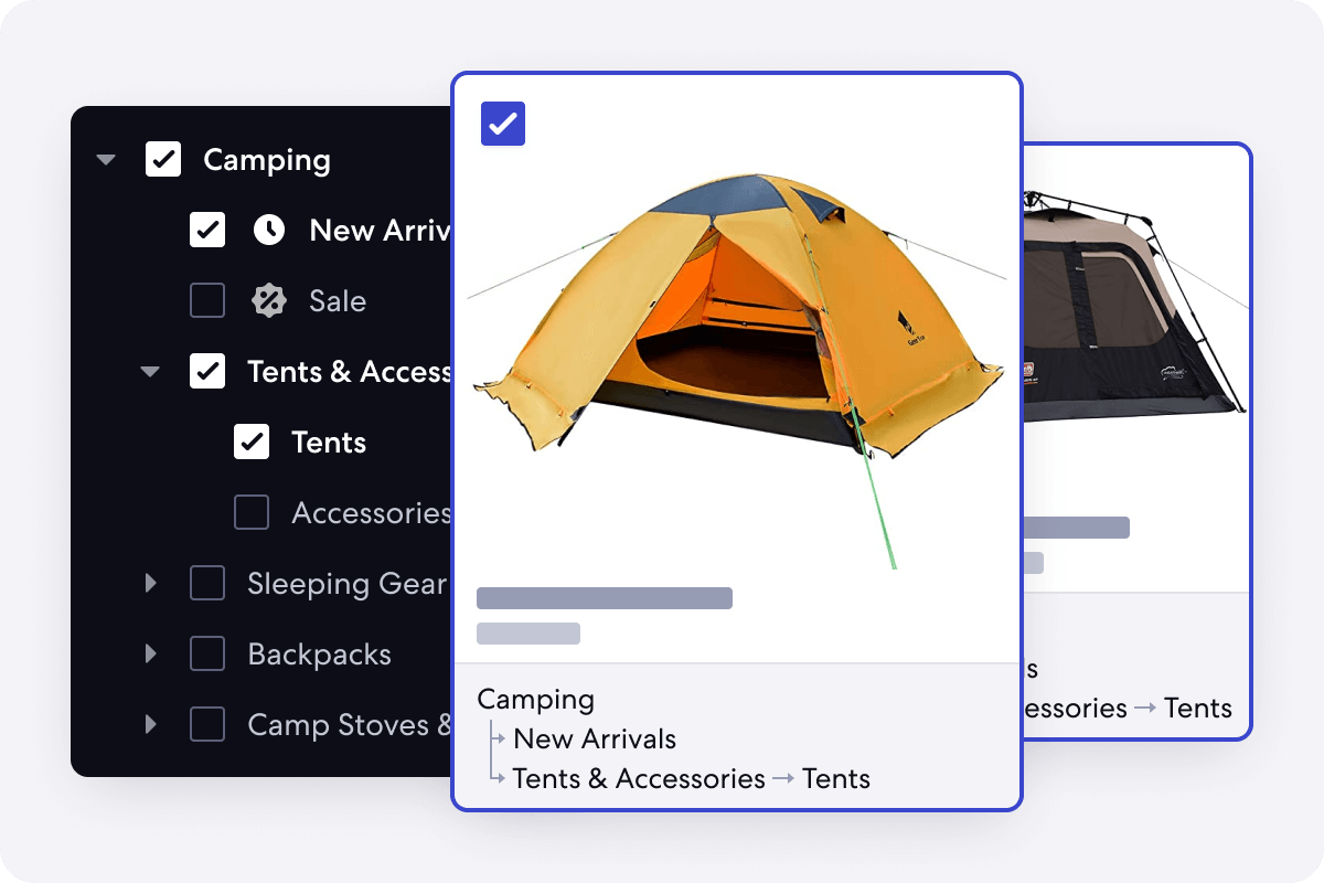 Graphic of Real Time Merchandising Feature for Adventure Stores