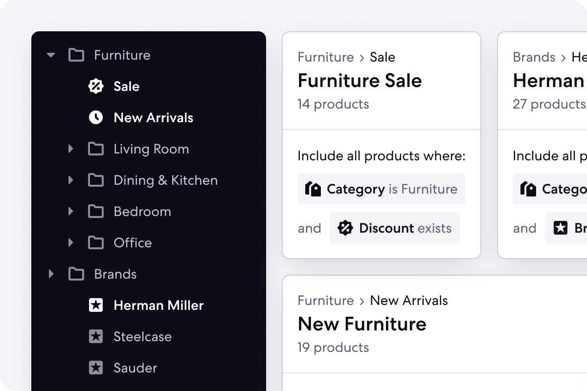 Graphic of Automated Categories for Homeware Stores