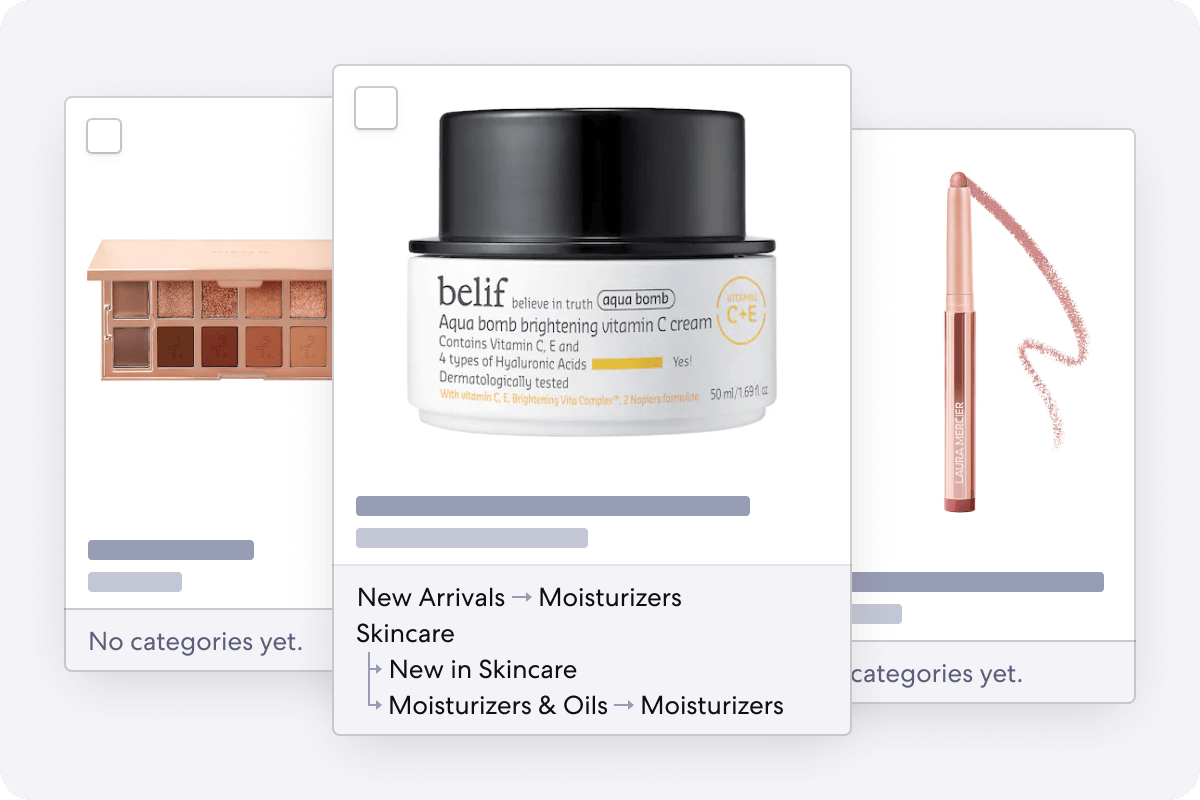 Graphic of Product Inbox for Beauty Stores