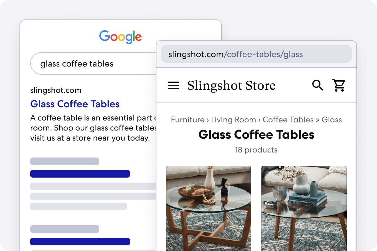 Graphic of Long Tail Categories for Homeware Stores