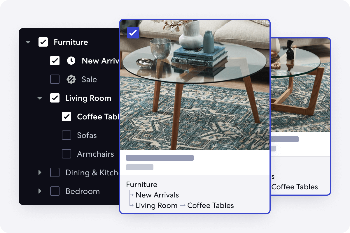 Graphic of Real Time Merchandising Feature for Homeware Stores
