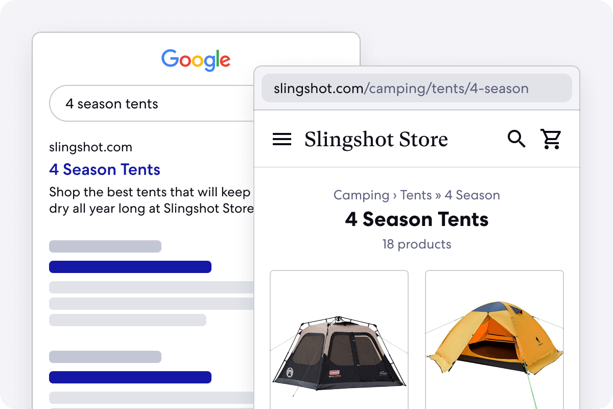 Graphic of Long Tail Categories for Adventure Stores