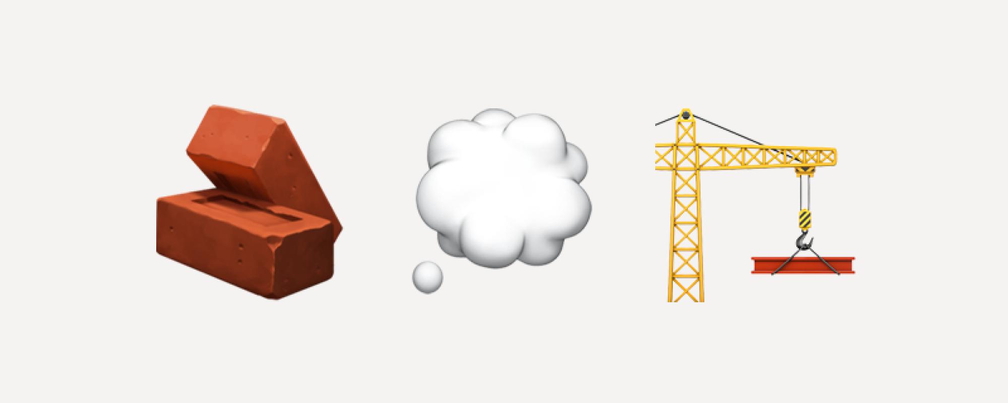 image of 3 emojis depicting blog