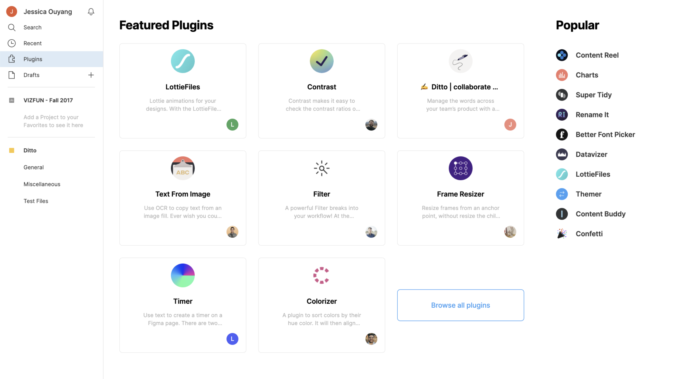 Screenshot of us on Figma's Featured Plugins page
