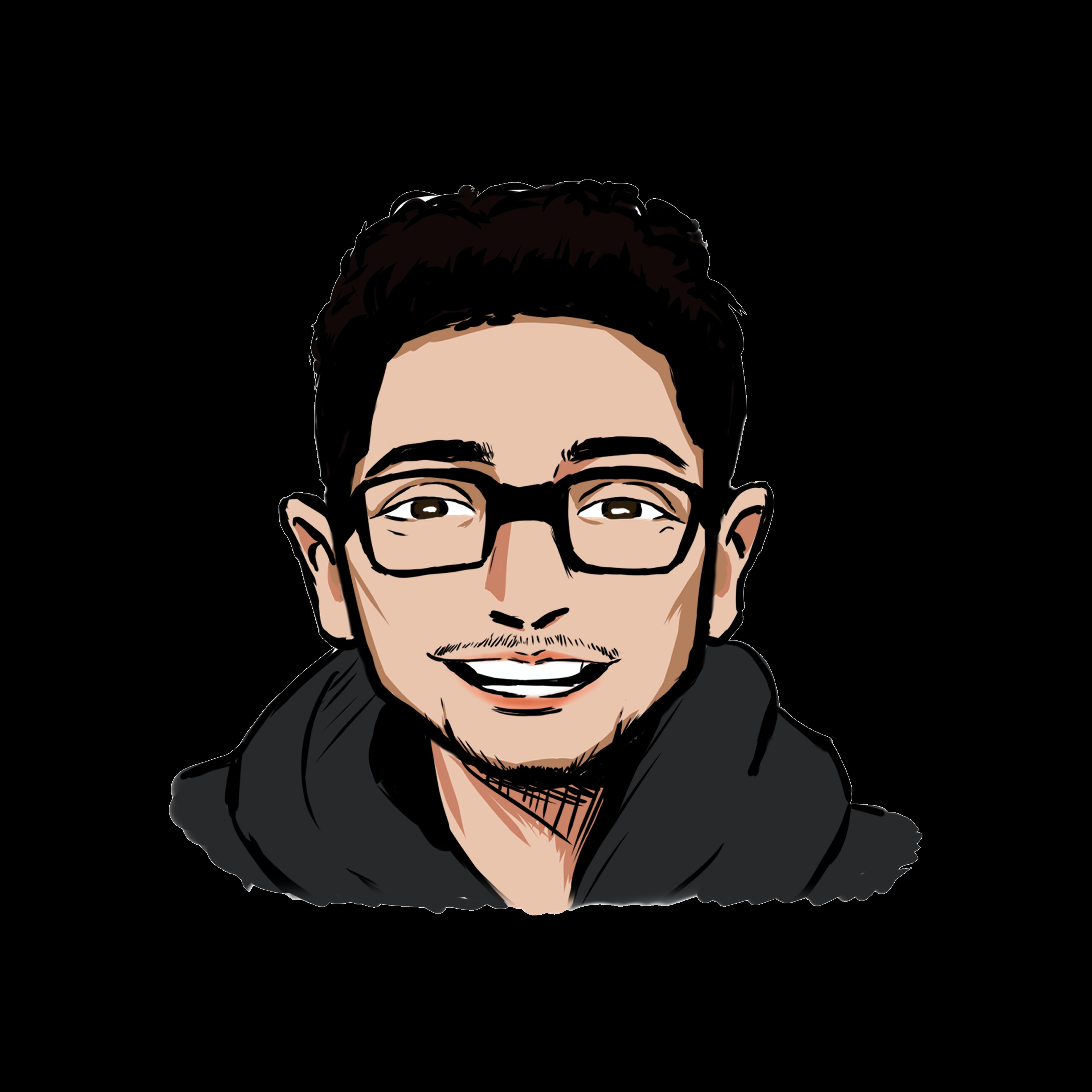 Illustrated headshot of team member, Trevor