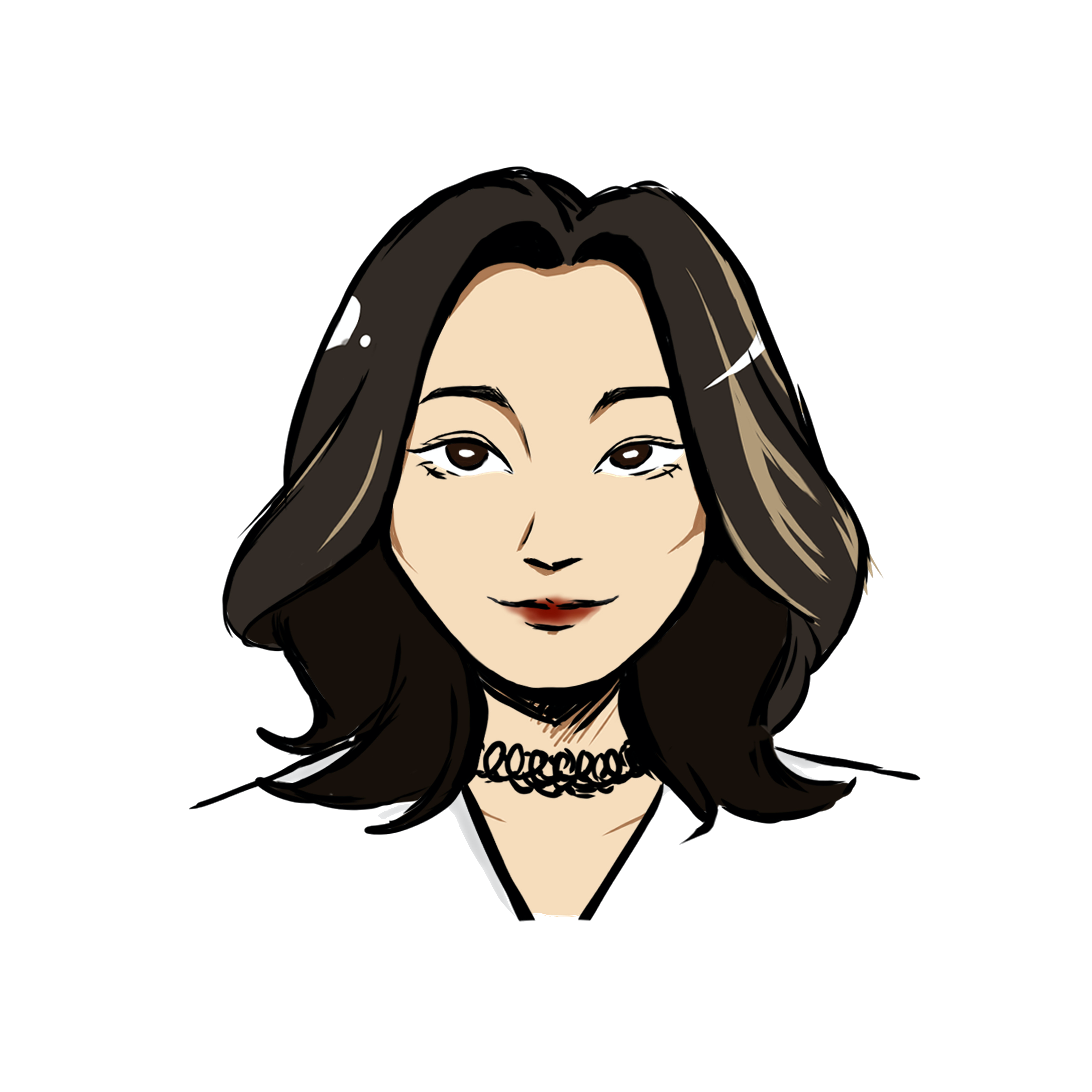 Illustrated headshot of team member, Anna