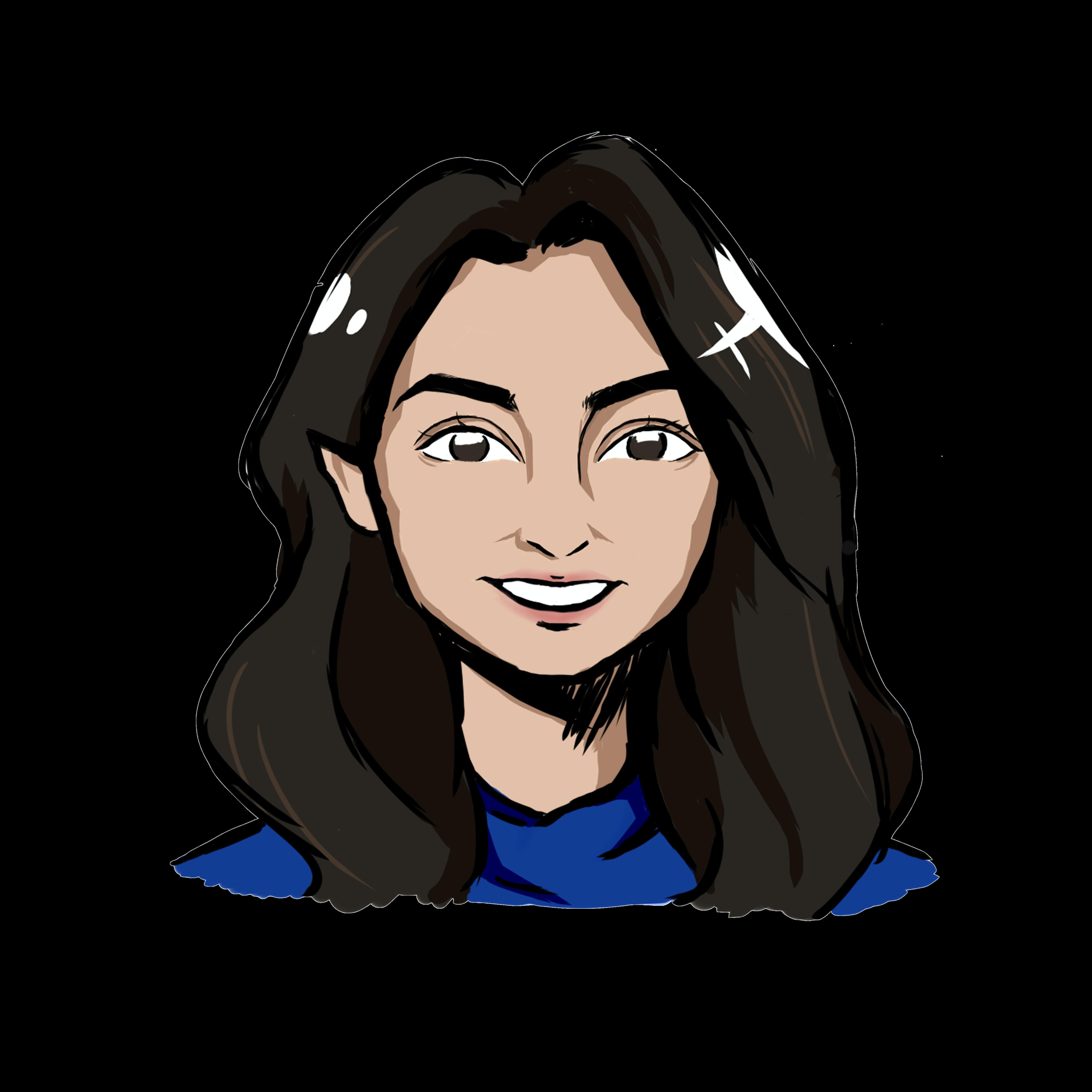 Illustrated headshot of team member, Shyla