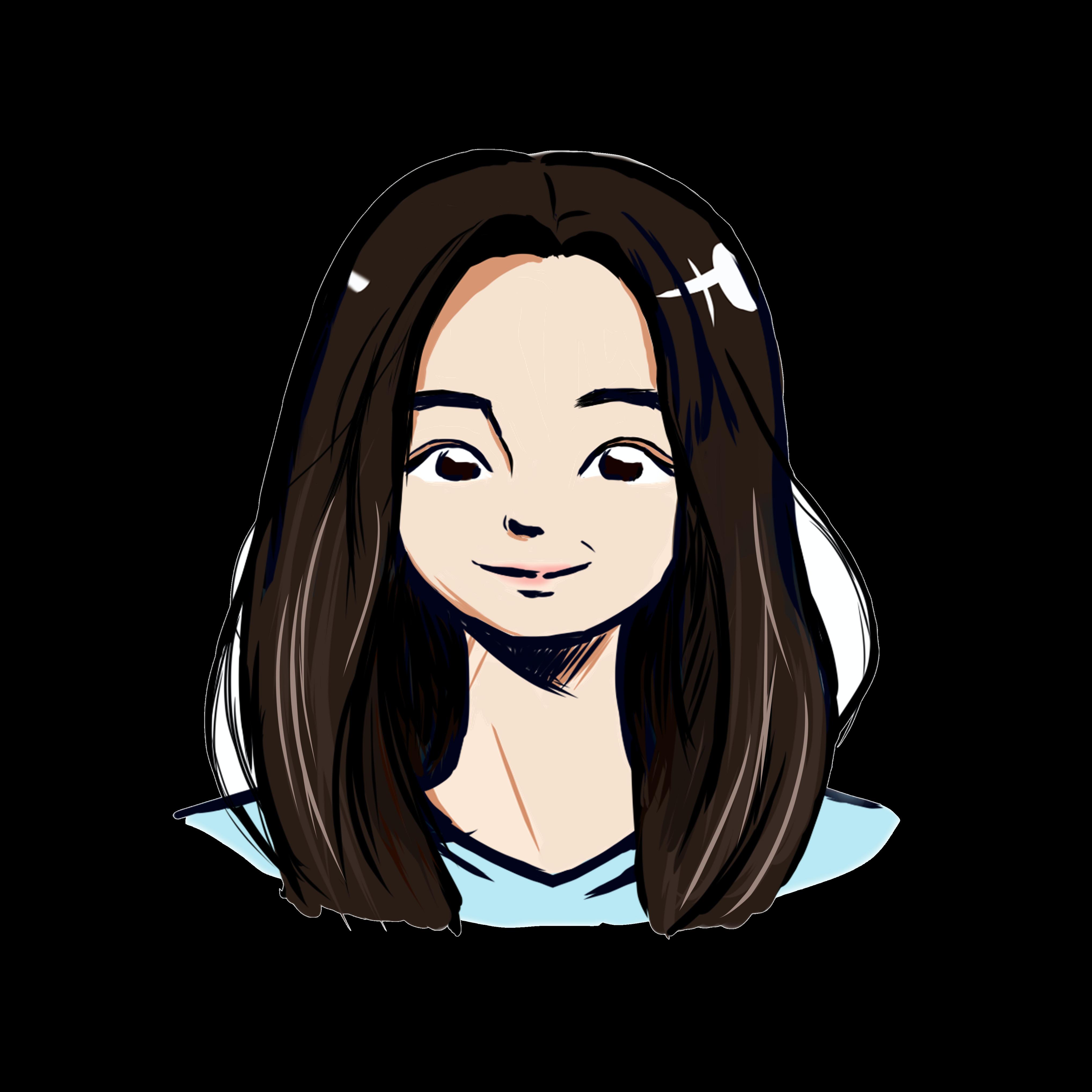 Illustrated headshot of team member, Kelly