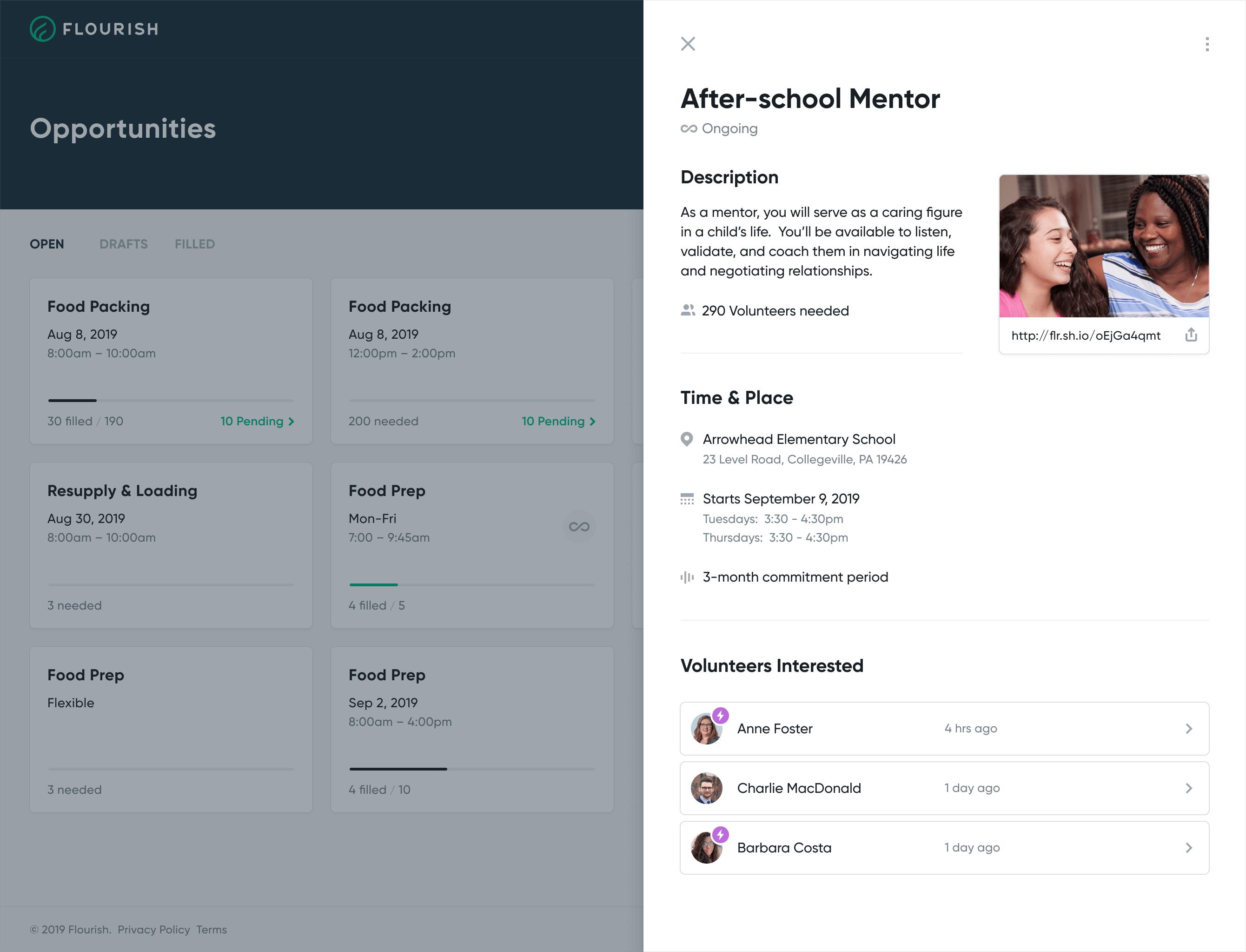 Flourish app design.